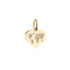 Mini Solid Gold World Heart Map Charm - JET SET CANDY