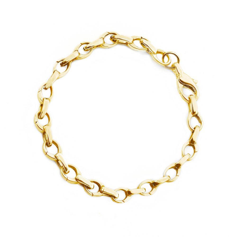 Narrow Solid Gold Infinity Link Bracelet - JET SET CANDY