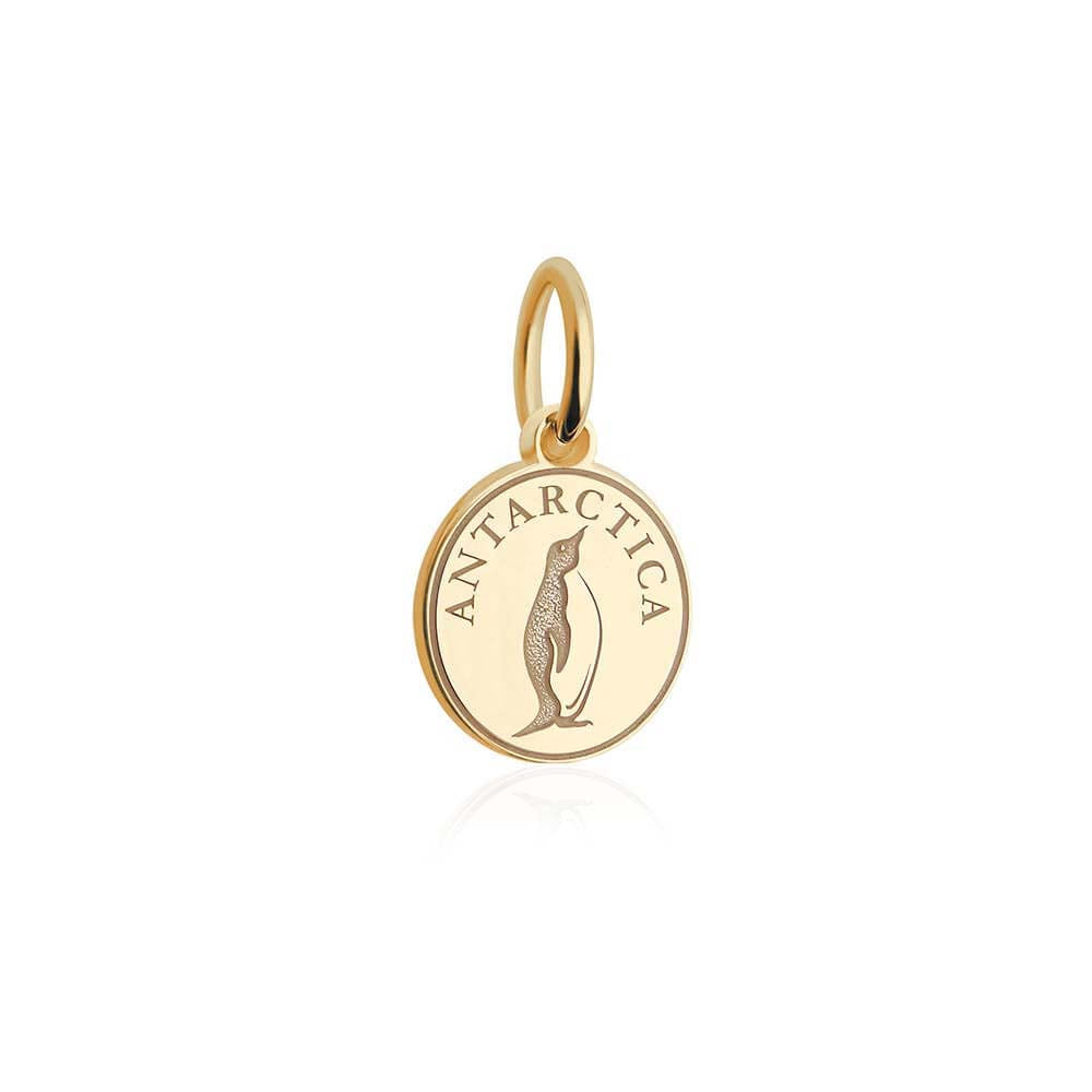 Mini Solid Gold Antarctica Passport Stamp Charm