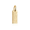 Mini Solid Gold BOS Boston Luggage Tag Charm (SHIPS JUNE) - JET SET CANDY