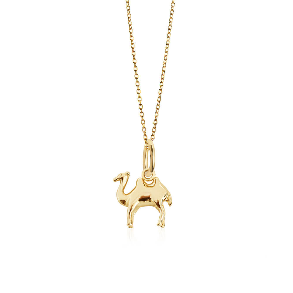 Solid Gold Mini Camel Charm