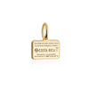 Mini Solid Gold Costa Rica Passport Stamp Charm