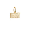 Mini Solid Gold Czech Republic Passport Stamp Charm