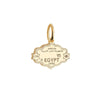 Mini Solid Gold Egypt Passport Stamp Charm