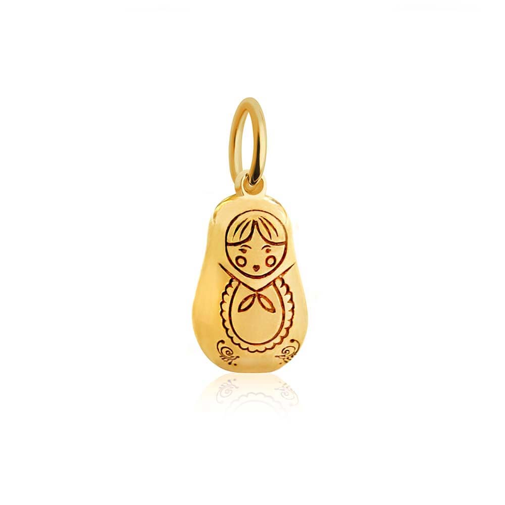 Solid Gold Mini Charm, Russian Matryoshka Doll (SHIPS JUNE) - JET SET CANDY
