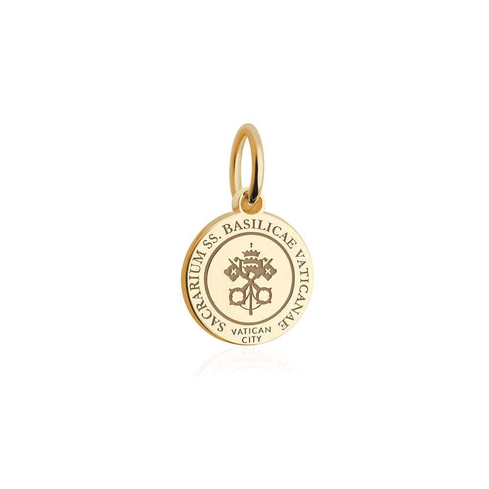Mini Solid Gold Vatican City Passport Stamp Charm