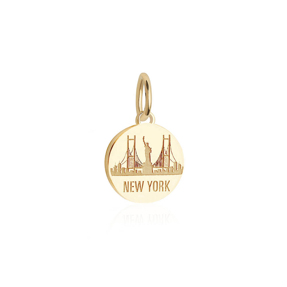 Solid Gold Mini New York Skyline Charm - JET SET CANDY