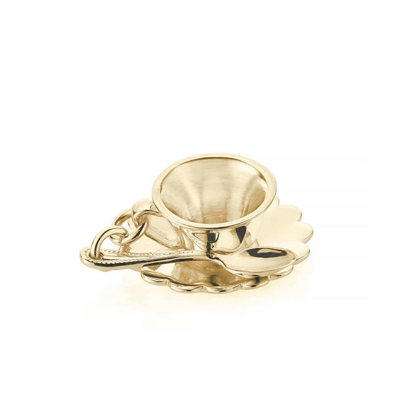 Solid Gold London Charm, Tea Cup - JET SET CANDY