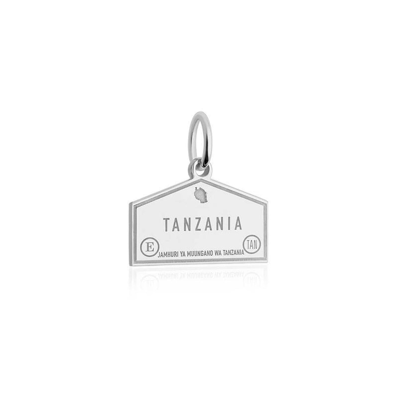Sterling Silver Travel Charm, Tanzania Passport Stamp (SHIPS JUNE) - JET SET CANDY