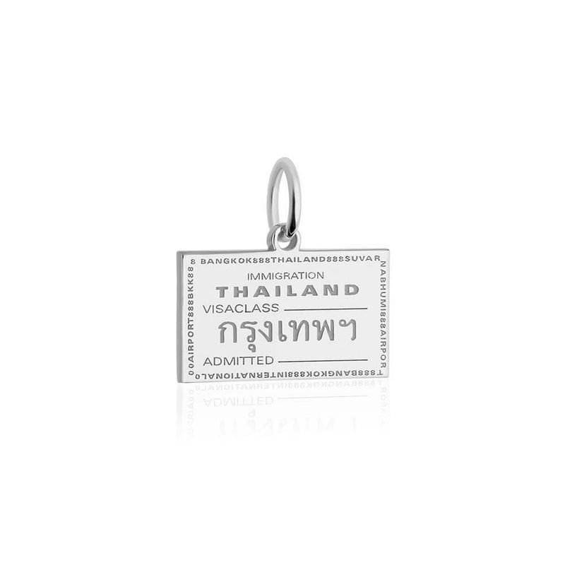 Sterling Silver Charm, Thailand Passport Stamp (SHIPS JUNE) - JET SET CANDY