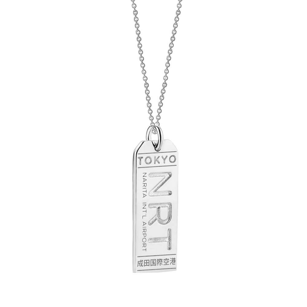 Silver Japan Charm, NRT Tokyo Luggage Tag - JET SET CANDY