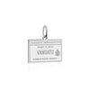 Sterling Silver Travel Charm, Vanuatu Passport Stamp - JET SET CANDY