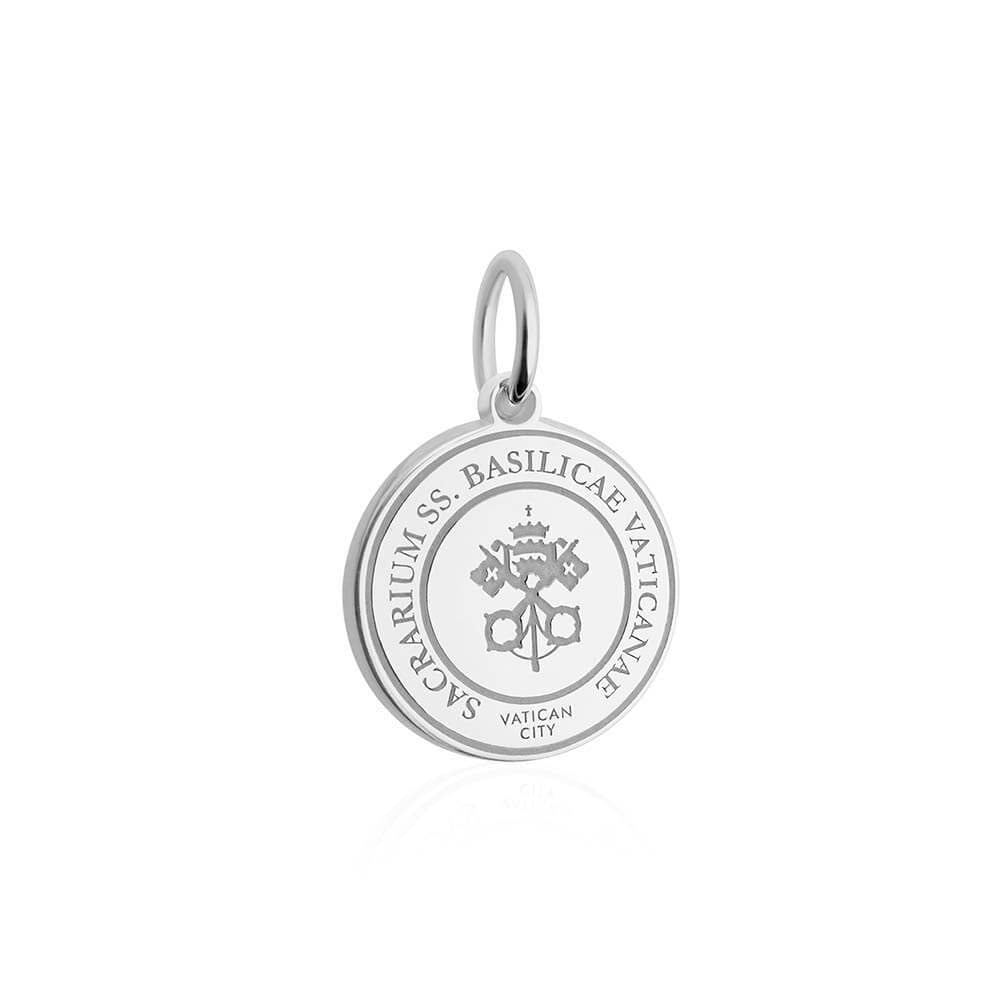 Sterling Silver Travel Charm, Vatican City Passport Stamp - JET SET CANDY