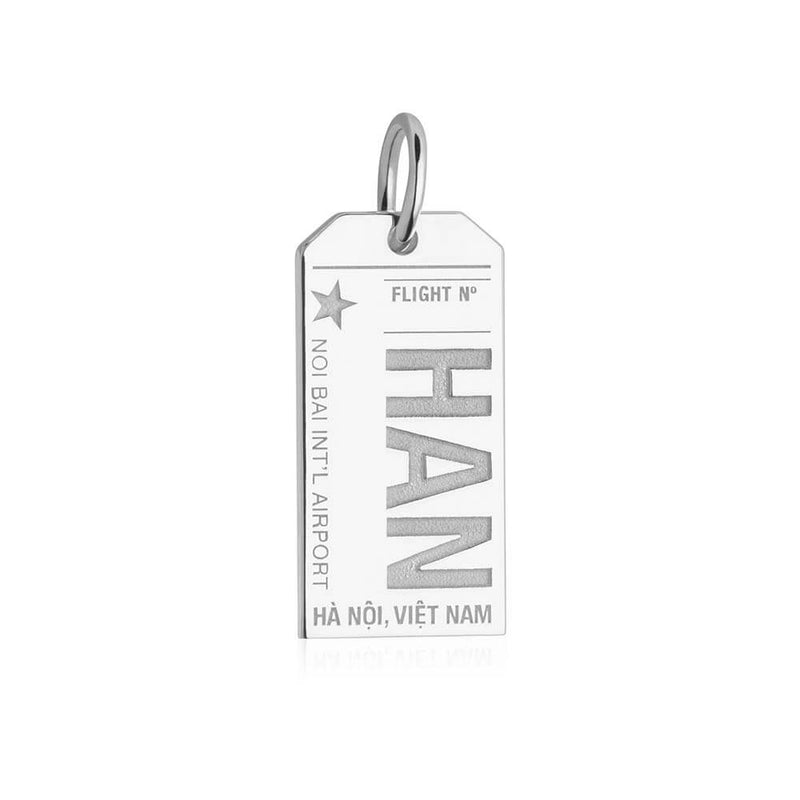 Silver Travel Charm, HAN Hanoi Luggage Tag - JET SET CANDY