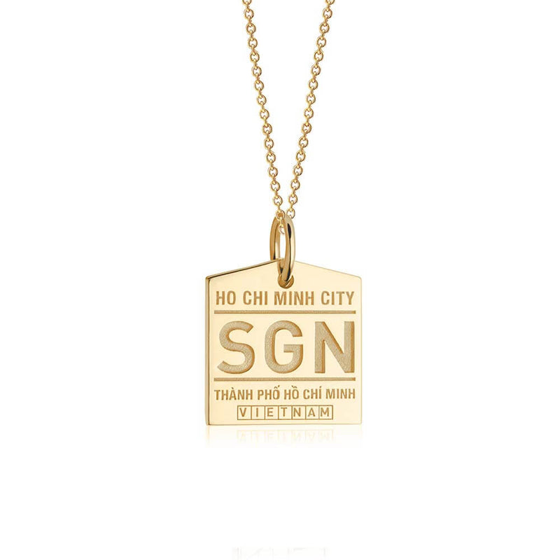 Gold Asia Charm, SGN Ho Chi Minh City Luggage Tag - JET SET CANDY