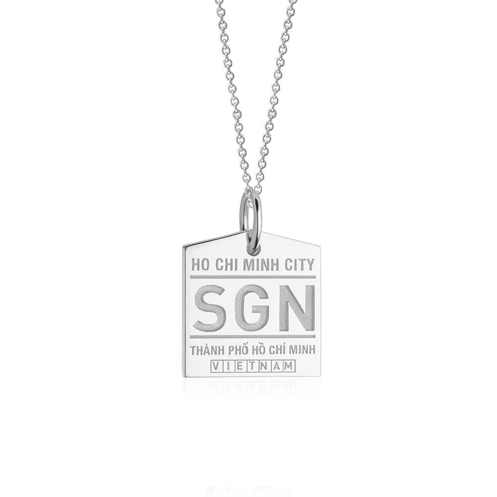 Silver Asia Charm, SGN Ho Chi Minh City Luggage Tag - JET SET CANDY