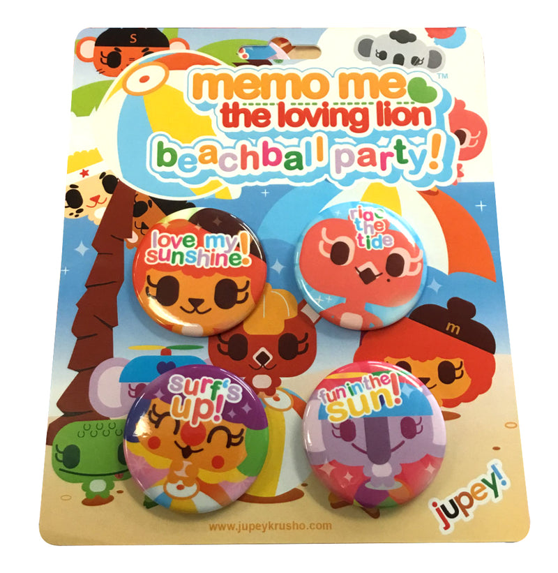 Beachball Party Button Pack