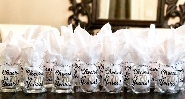 Cheers to 70 years! Wine glass, birthday glass, personalized wine glass, custom wine glass, cocktail glass
