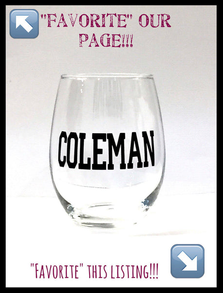 Personalized name glass, customized glass, wine glass, wedding, bridesmaid, bachelorette, cocktail glass, custom glassware, personalize