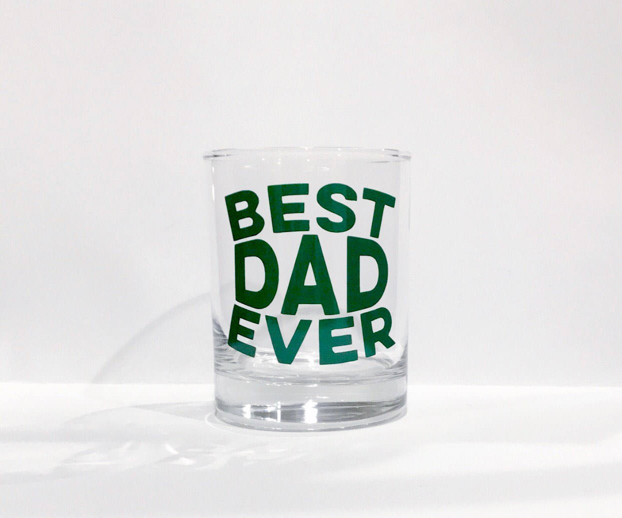 Best Dad Ever whiskey glass/ Father's Day gift