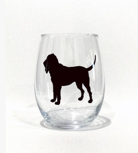 Custom dog silhouette glass, dog walker gift, loss of pet gift, Gift for Dog Owner, Personalized pet wine glass, animal lover gift, pet gift