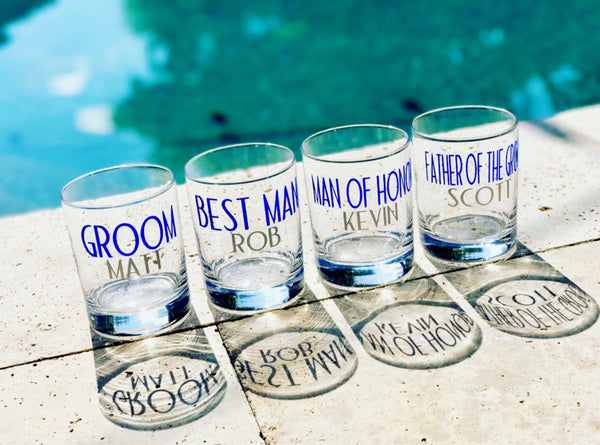 Groomsmen whiskey cocktail glasses/ personalized glass/ custom glass/ wedding party gift/ bachelor party/ best man/ groom