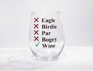 Golf wine glass/ golf whiskey glass/ funny gold glass/ custom golf gift/ personalized golf gift