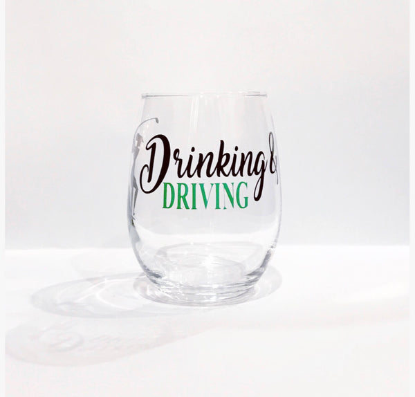 Golf glass/ Drinking and driving golf wine glass/ driving whiskey glass/ golf whiskey glass