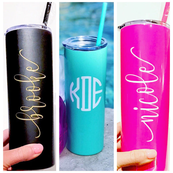 White Drink Tumbler, Tall Drink Tumbler, White Cocktail Tumbler, White Metal Drink Cup, stainless steel Cup, custom metal cup