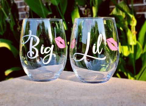 Sorority Sister Gift, gift for sorority sisters, cute sorority sister gift, Big little sorority, Sorority sister wine glasses, big little