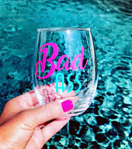 Bad Ass Glass, Bad Ass Gift, Bad Ass Wine, Bad Ass Friends, funny friends gift, Bad Ass Boss, Bad Ass Body, Bad Ass Coworker, Bad Ass Mom