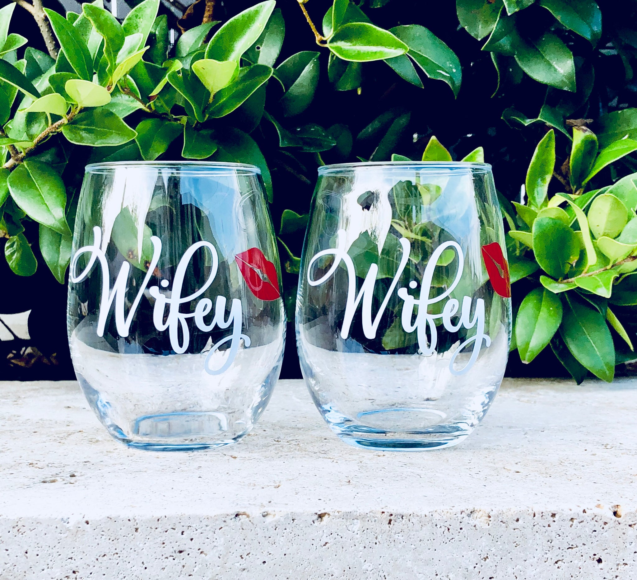 lesbian wine glasses, lesbian wedding glasses, lesbian wifey glasses, cute lesbian gift, same sex marriage, wifey wine glass, brides wine