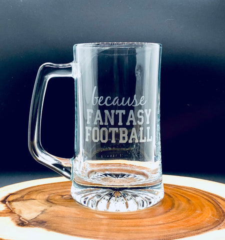 Fantasy Football Glass, Fantasy Football Beer Mug, Fantasy Football beer glass, Sports Beer Mug, Funny gift for him, Funny glass for men