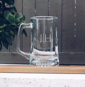 Initial Beer Mug, personalized beer mug, custom beer mug, monogram beer mug, etched beer mug, groomsmen beer mug, groomsmen beer gift