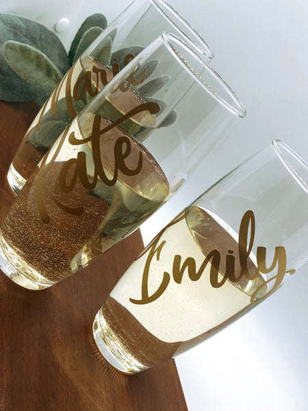 Personalized champagne glass, Name champagne flute, Personalized champagne gift, personalized name glass, Bridesmaids glass, Bridal party
