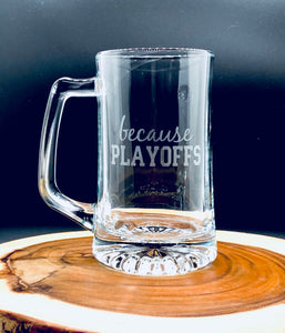 Football Playoffs Glass, Playoffs Beer Mug, Playoffs beer Glass, Sports Beer Mug, Funny gift for him, Funny glass for men, gift for husband