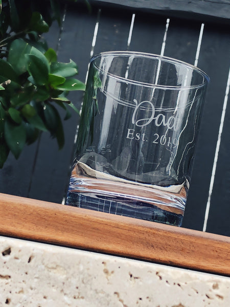 Fathers day Glass, New Dad Gift, Fathers day Gift, whiskey glass for Dad, Adoption gift, Gift for new Parents, birthday for Dad