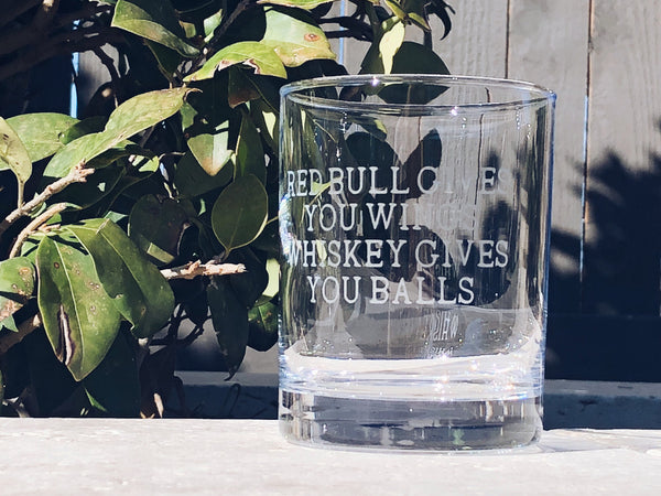 Funny whiskey glass, whiskey Glass for Men, Funny Gift for dad, Funny Fathers Day gift, Gifts for guy, whiskey gives you balls