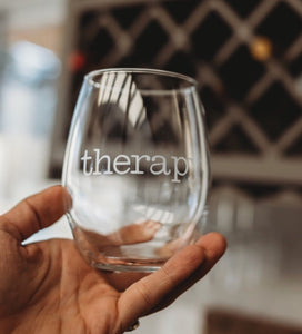 Therapy gift, Funny therapist gift, therapy wine glass, sarcastic gift idea, funny therapy glass, sarcastic wine glass, humorous