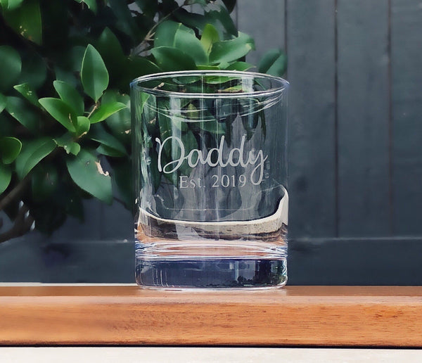 Fathers day Gift, New Daddy Gift, Fathers day Glass, whiskey glass for Daddy, Adoption gift, Gift for new Parents, birthday for daddy
