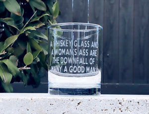 Whiskey glass for Guys, Funny whiskey glass, Funny gift for Men, Funny Gift for dad, Fathers Day gift, whiskey glass and a womans ass