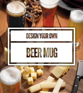 Design your own Beer Mug, personalized Beer Mug, custom Beer Mug, design your own Drinking Glass, IPA, lager, Amber, Stout, Hops