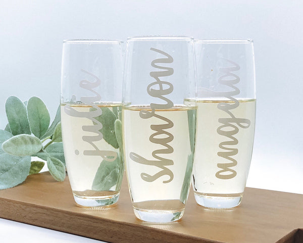 Design your own Champagne Glass, personalized Champagne Glass, custom champagne glass, design your own Mimosa, poinsettia
