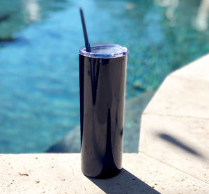 Blue Drink Tumbler, Tall Drink Tumbler, Blue Cocktail Tumbler, Blue Metal Drink Cup, stainless steel Cup, custom metal cup, Navy Blue metal