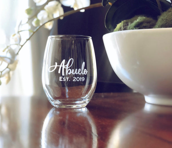 Gifts for Abuelos, Abuelos wine glasses, Abuelos Gifts, Gift for Abuela, gift for Abuelo, pregnancy announcement spanish