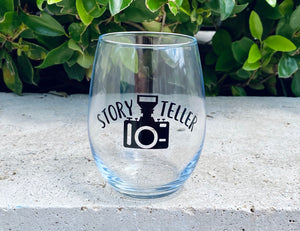 Story Teller Photography Wine Glass