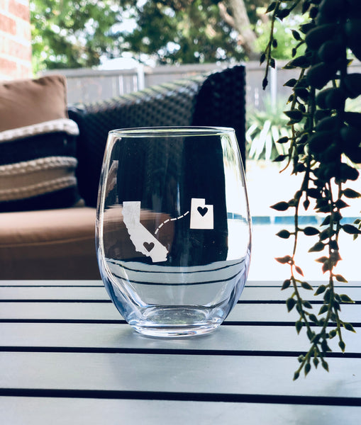 Long distance wine glass
