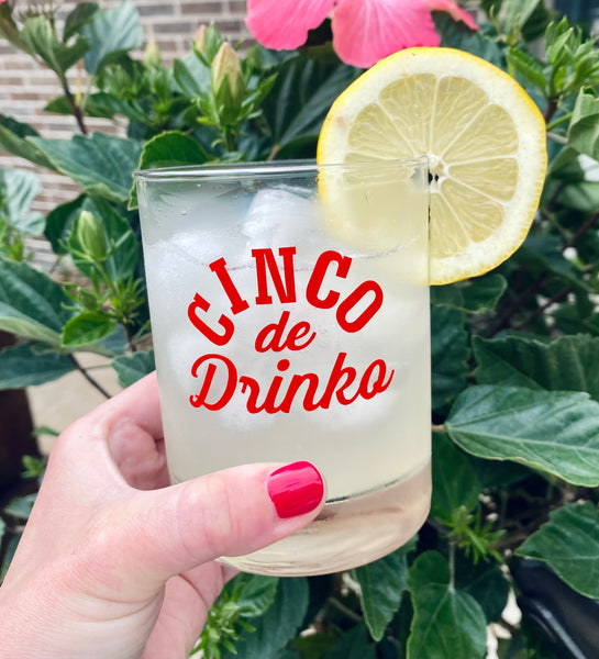 Cinco de Drinko Cocktail Glass
