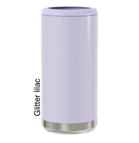 Glitter Lilac 12oz skinny Can Cooler
