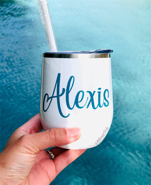Personalized White Wine Tumbler